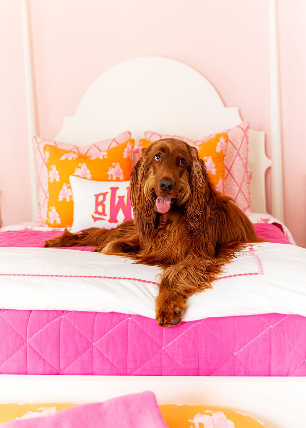 Pink and Orange Kids Room