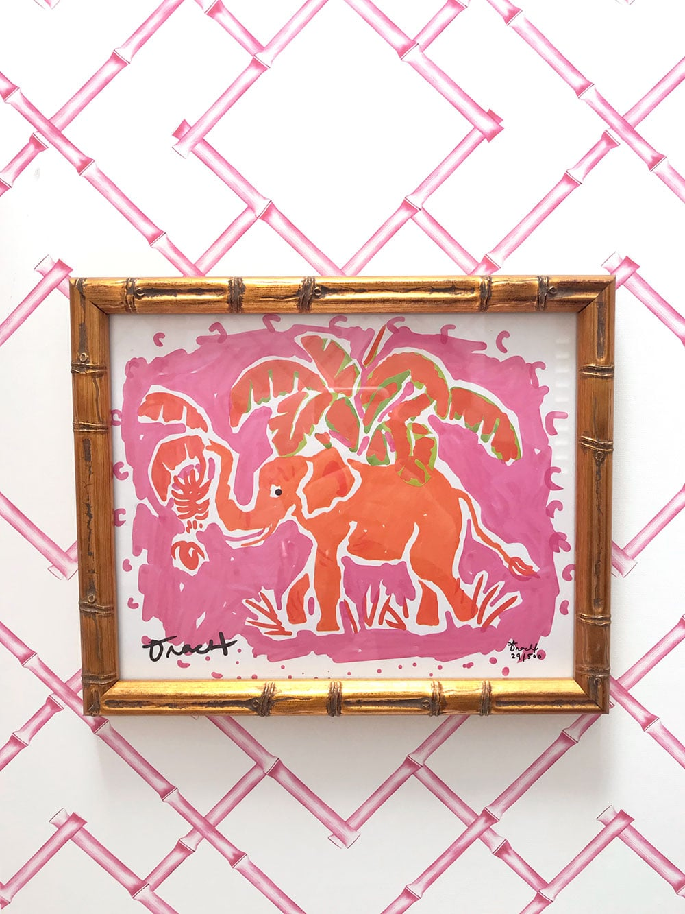 Preppy Elephant Art Print