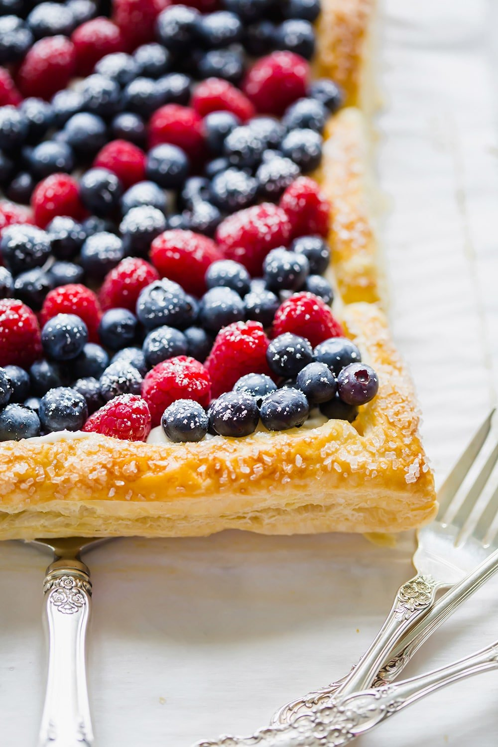 Red White Blue Berry Tart 4th Of July Dessert Pizzazzerie