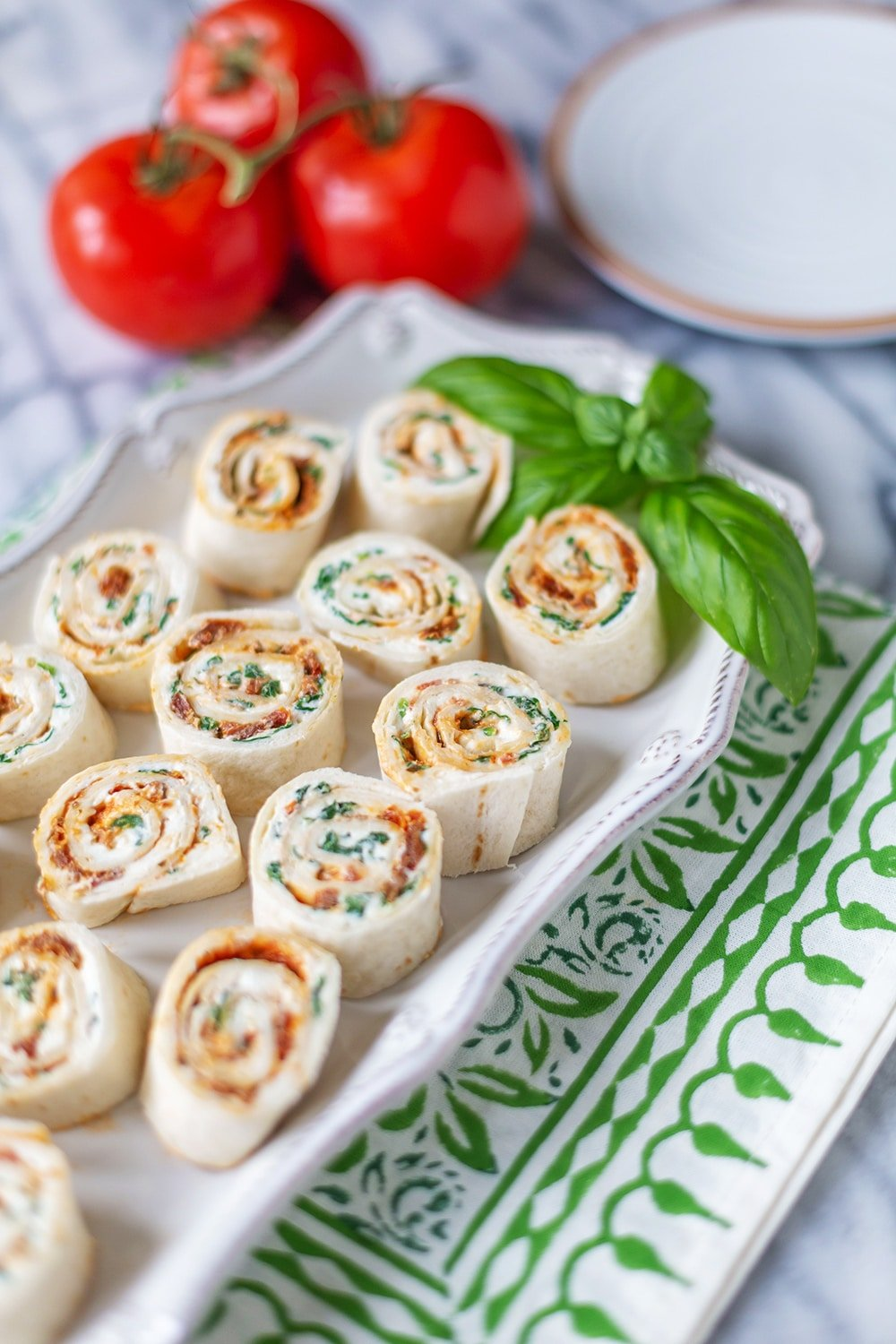 Pesto Pinwheels with Sun-Dried Tomato Pesto
