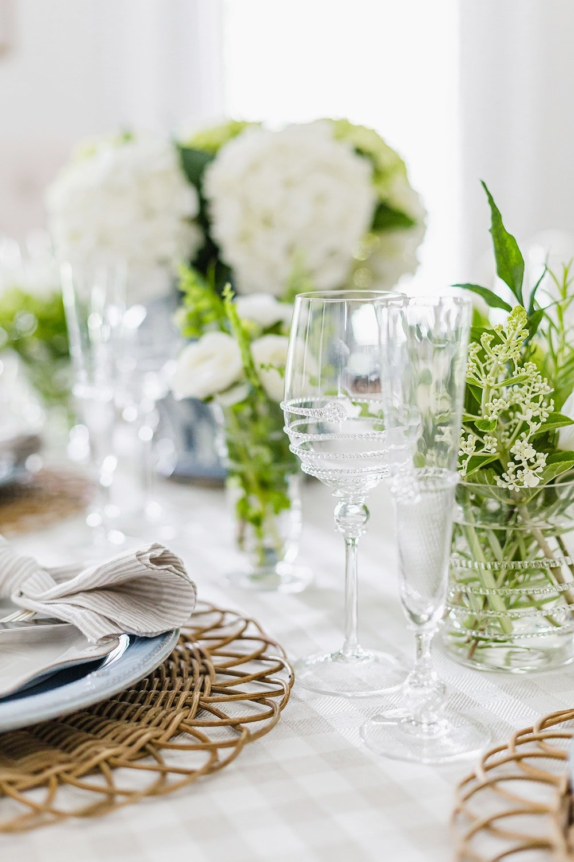 Glassware on Tablescape