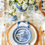 Blue and White Tablescape for Fall