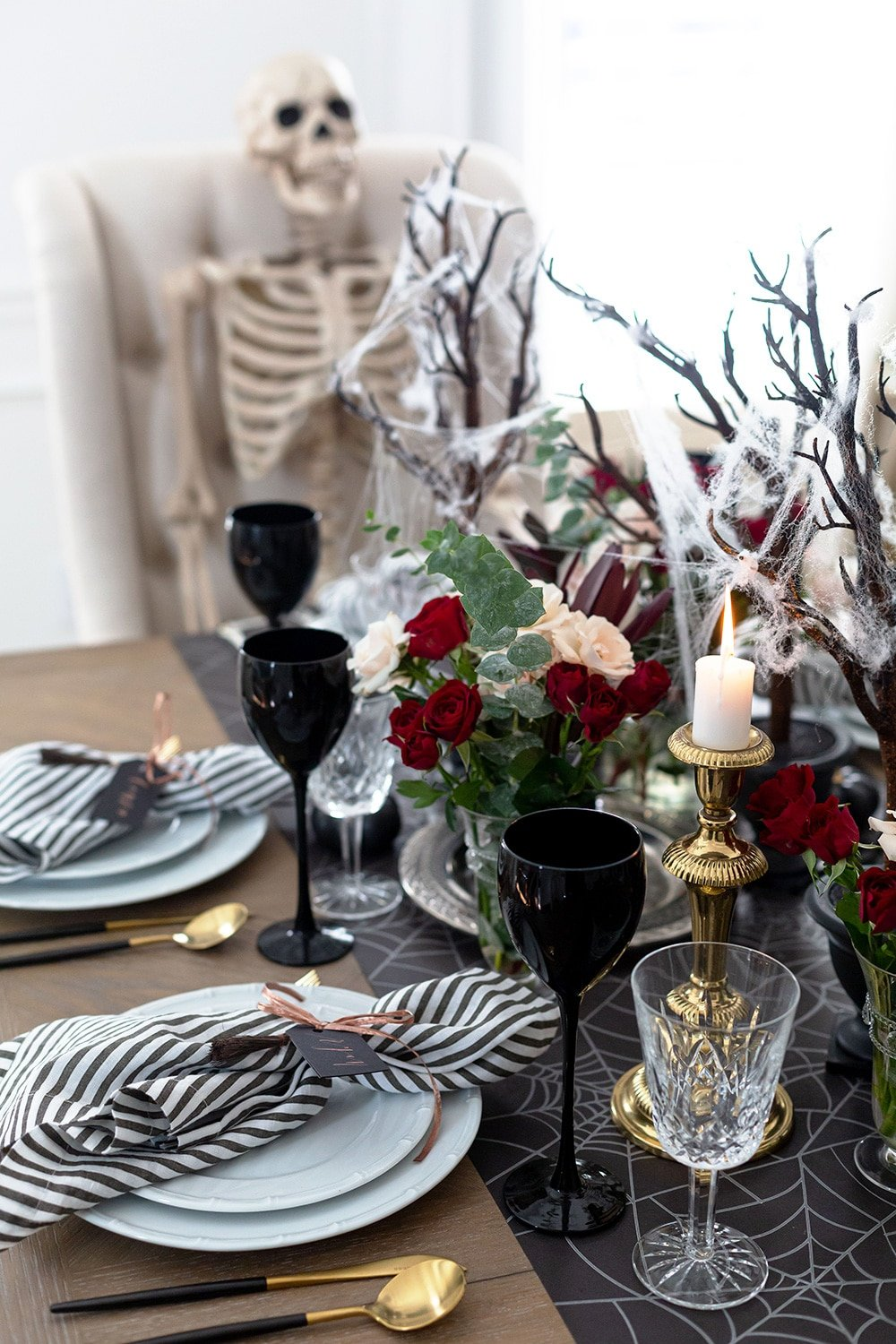 Halloween Tablescape Dinner Party