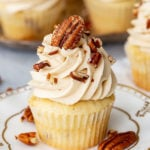 Pecan Pie Cupcakes for Thanksgiving