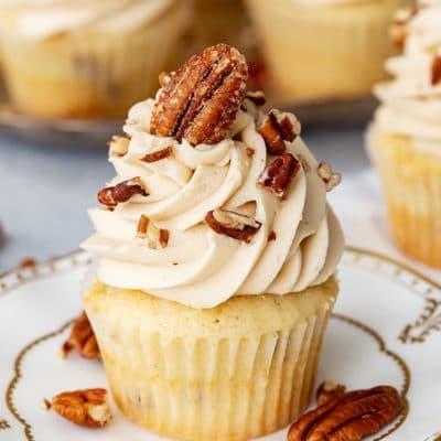 Pecan Pie Cupcakes for Thanksgiving