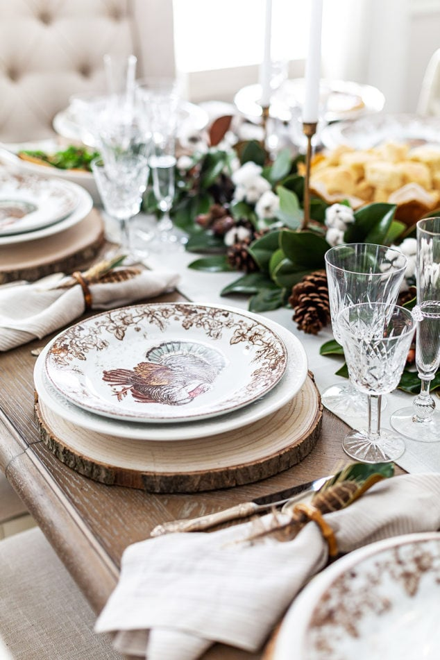 Southern Thanksgiving Table Setting
