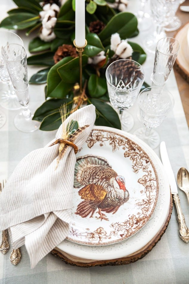 Southern Thanksgiving Place setting