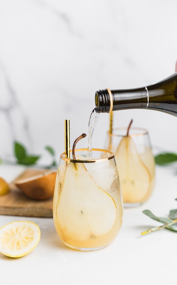 Pear and Ginger Sparkler