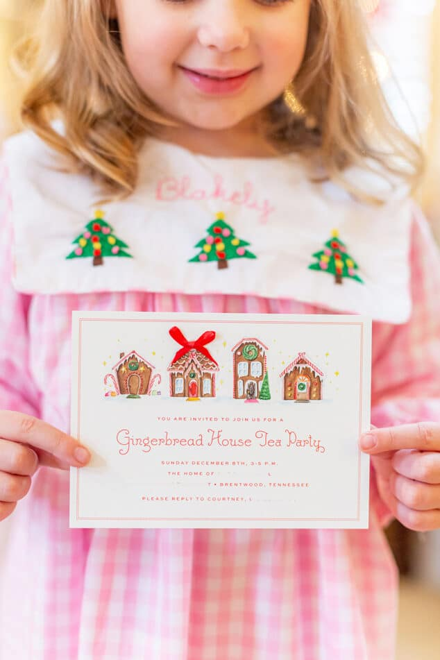 gingerbread house invitation!