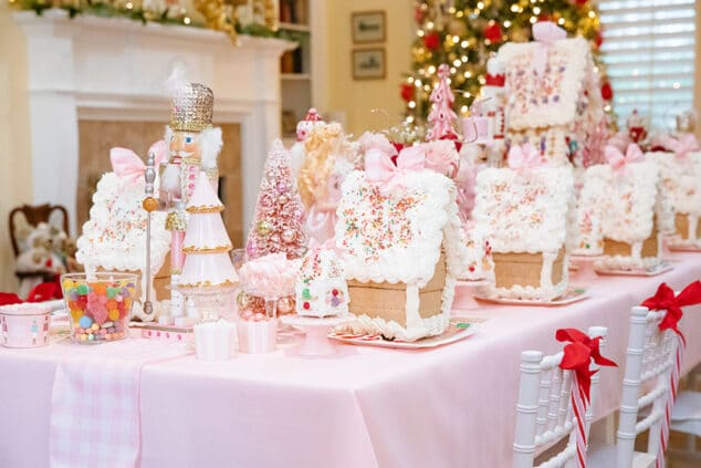 Pink Gingerbread Houses