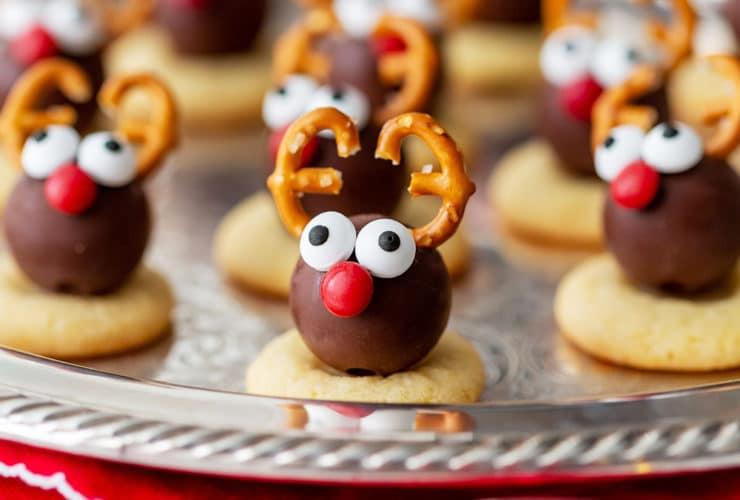 Reindeer Truffle Christmas Cookies