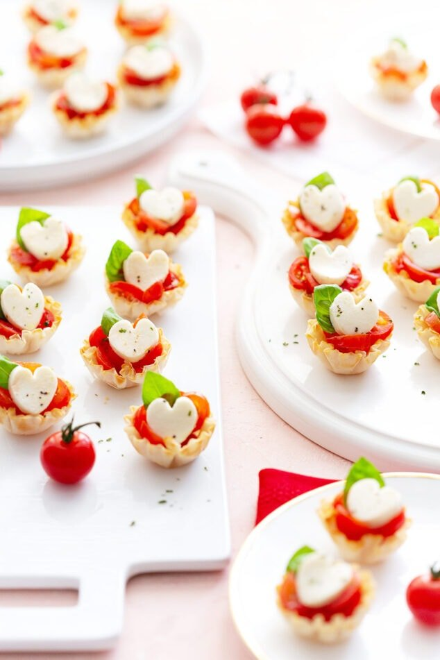 Heart Shaped Valentine's Day Appetizer