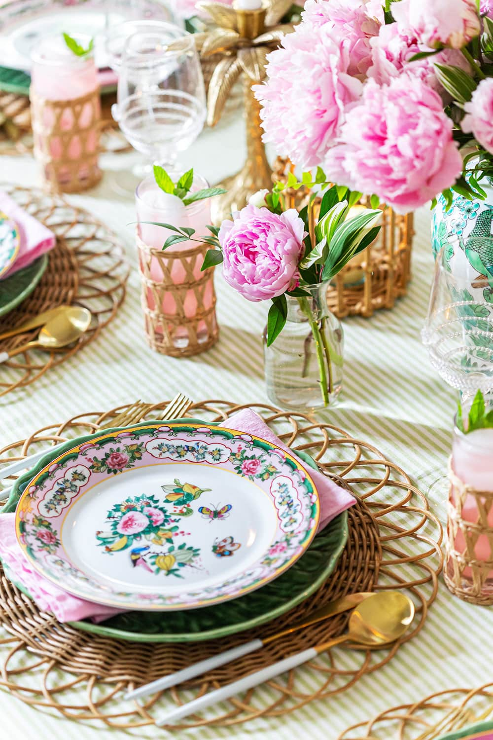 Summer Floral Tablescape