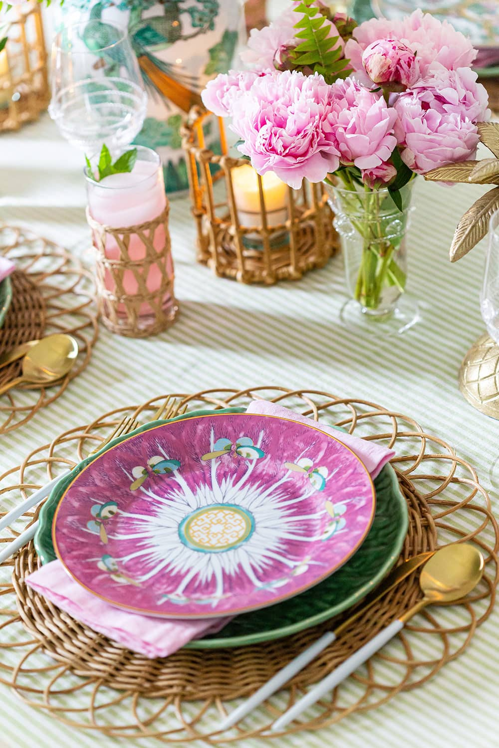 Garden Tablescape Place Setting