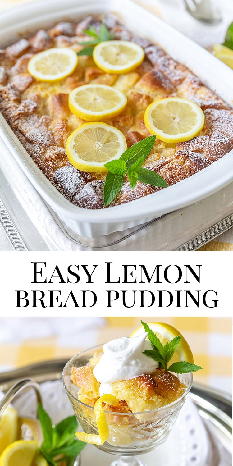 Easy and Delicious Lemon Bread Pudding