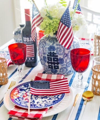 July 4th Party Table