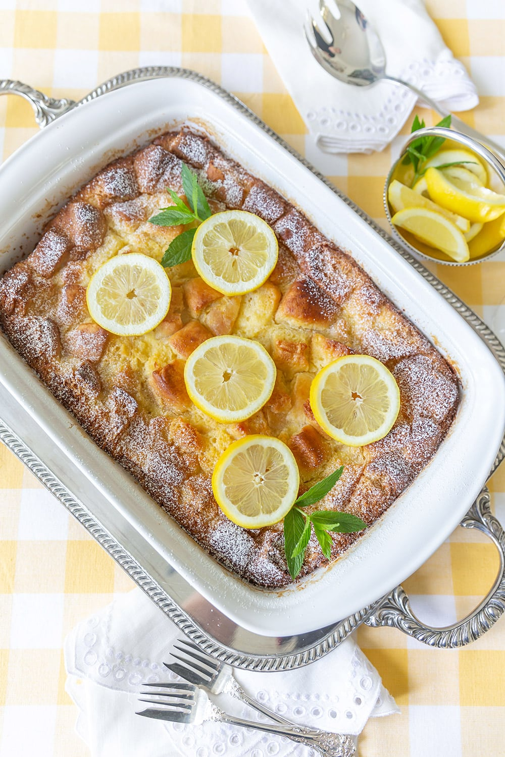 Sister Schubert's Lemon Bread Pudding