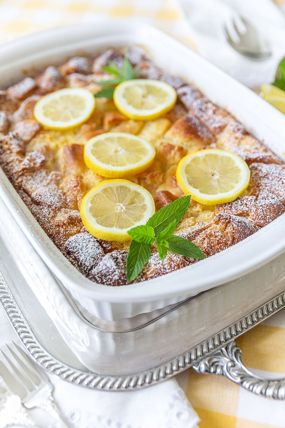 Easy Lemon Bread Pudding Recipe