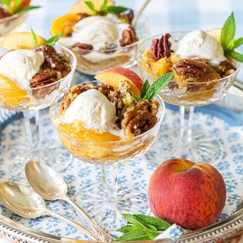The Best Peach Dump Cake