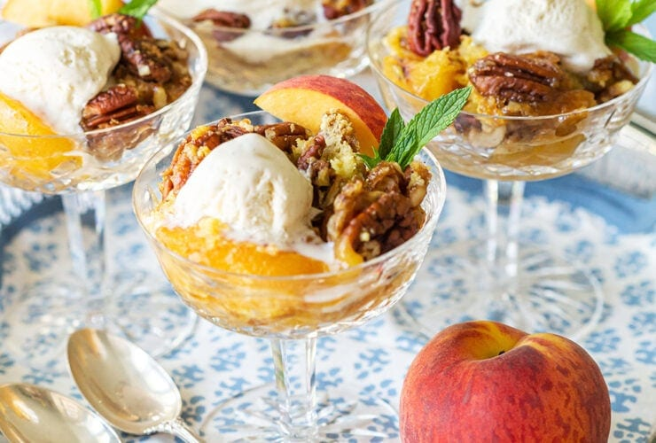 The Best Peach Dump Cake
