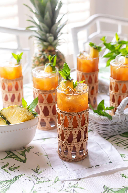 Pineapple Sweet Tea Drink