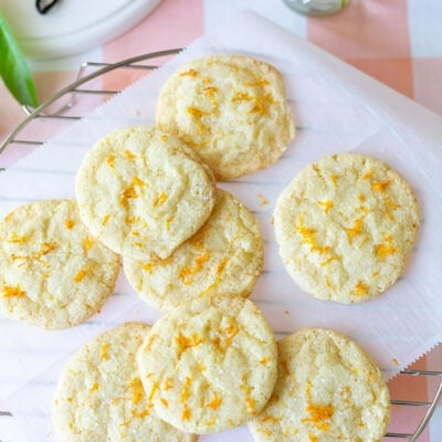 Tangerine Sugar Cookies