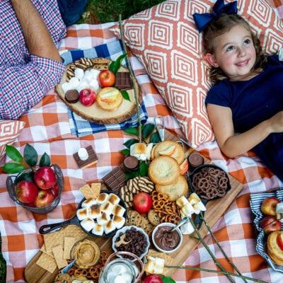 backyard smore's party spread