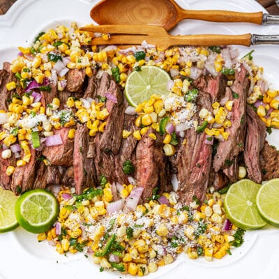 Grilled Skirt Steak with Street Corn Salsa