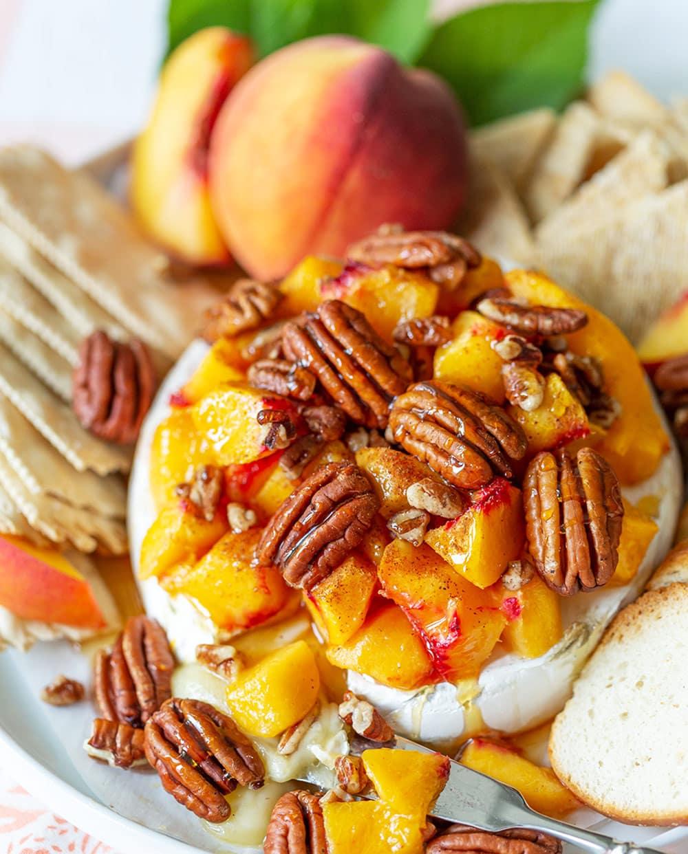 Peach Pecan Brie
