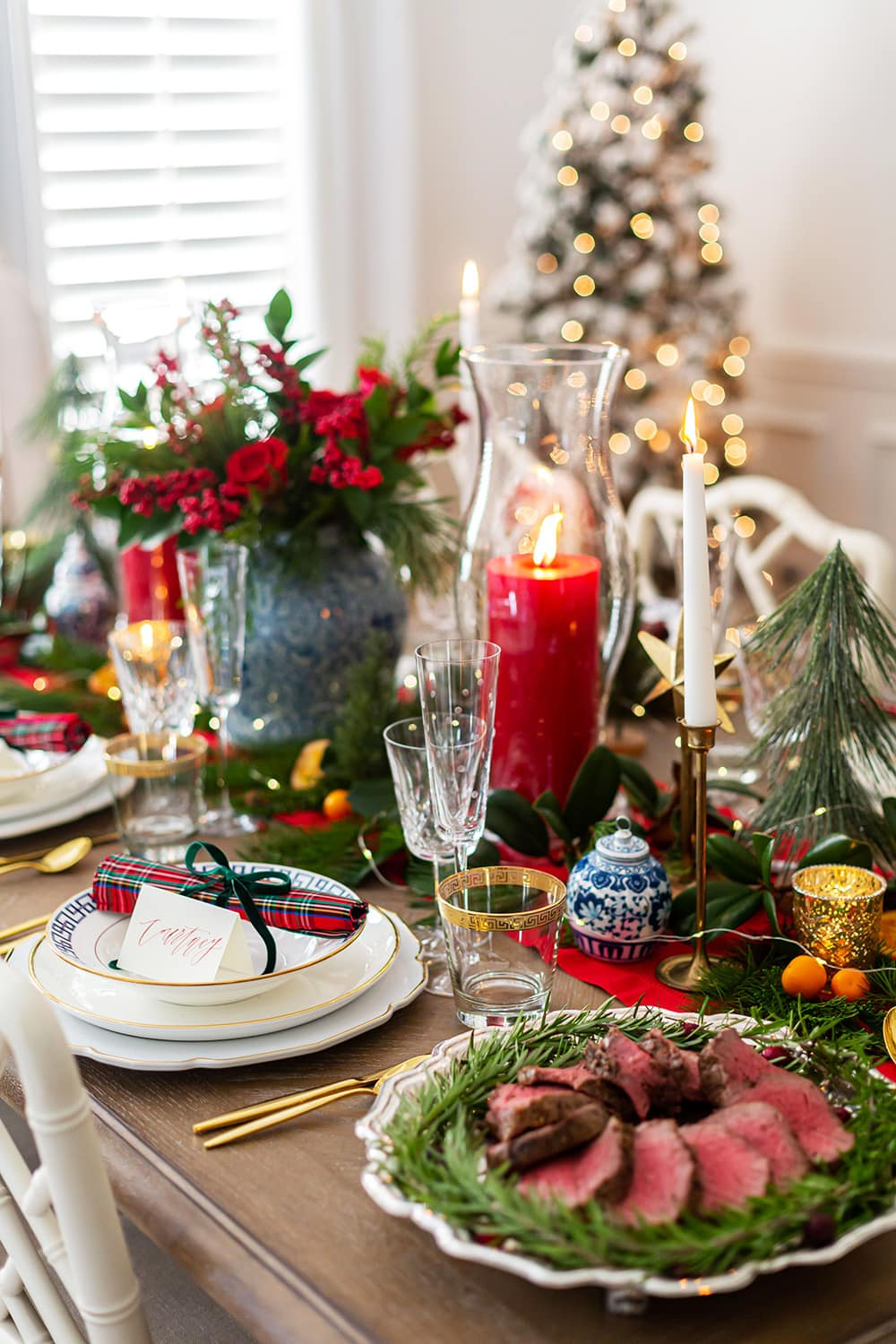 Holiday Tablescape Tartan