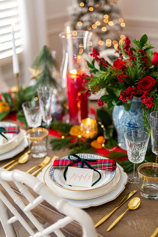 Tartan Plaid Christmas Tablescape