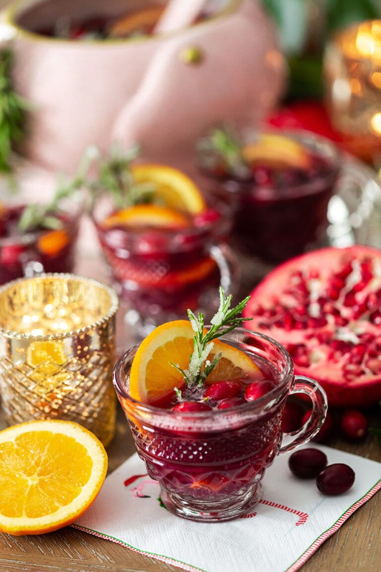 Cranberry Punch for Christmas