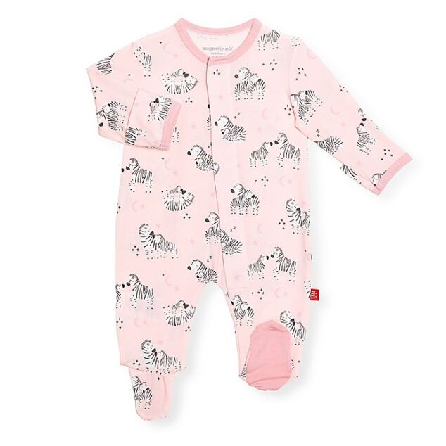 baby magnetic outfit with zebras
