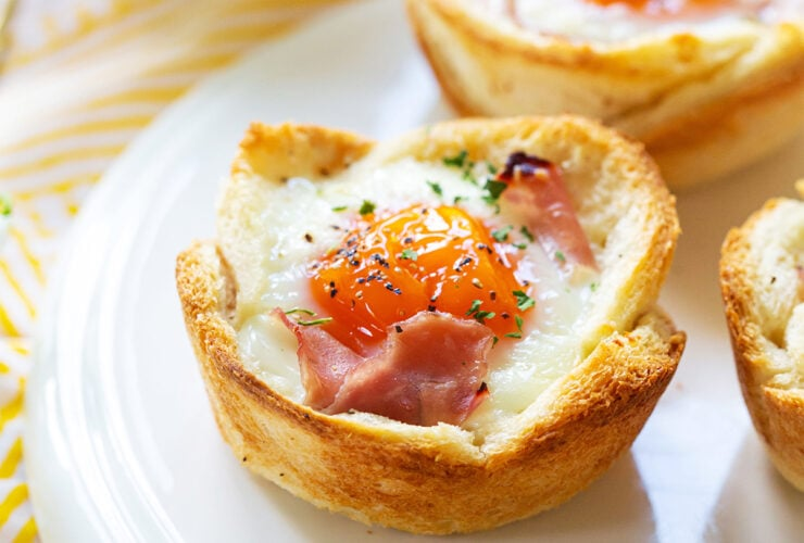 croque madames in muffin tins