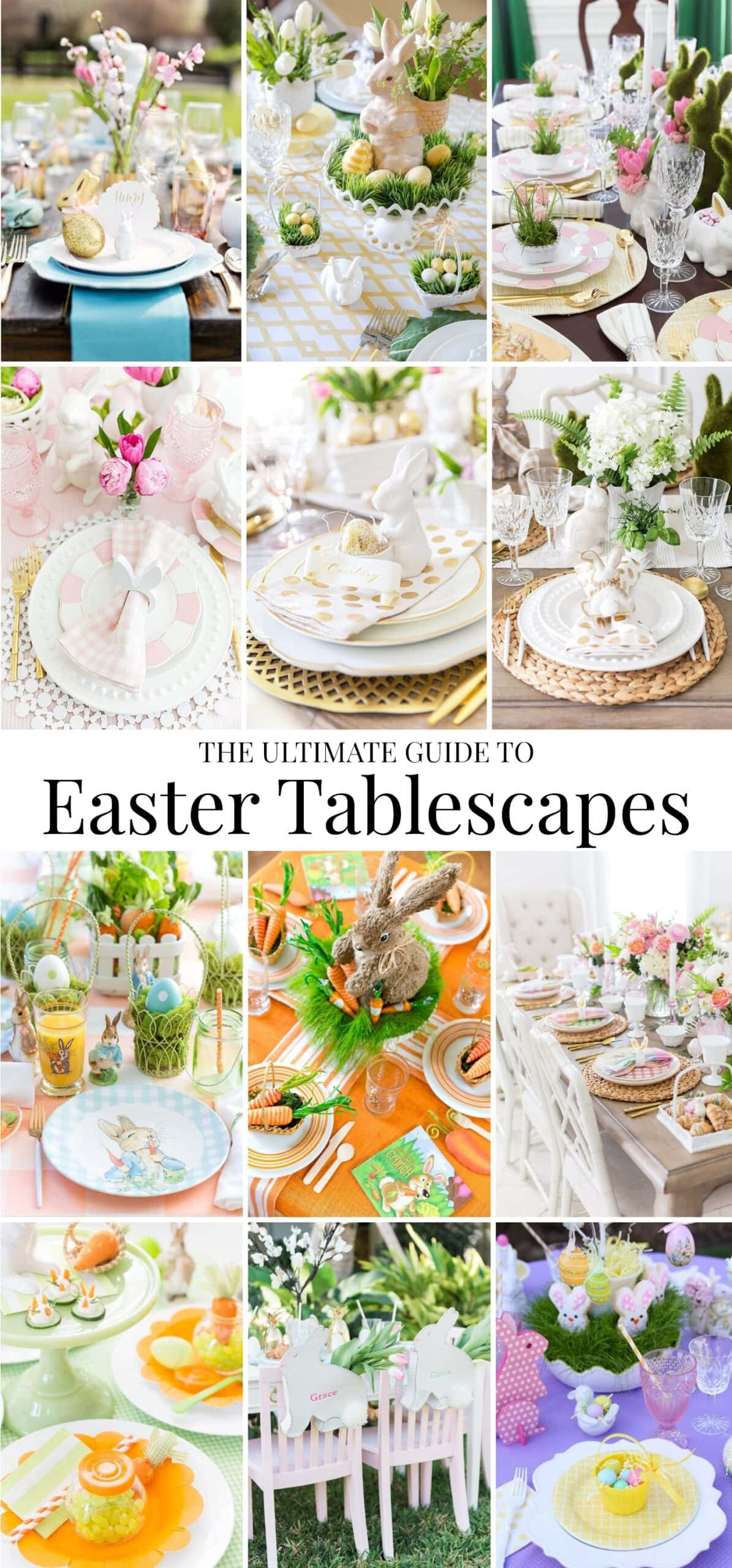 Easter Tablescapes and Table Settings.