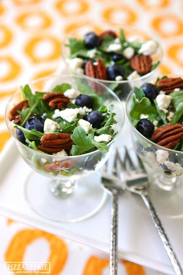 pecan and blueberry salads