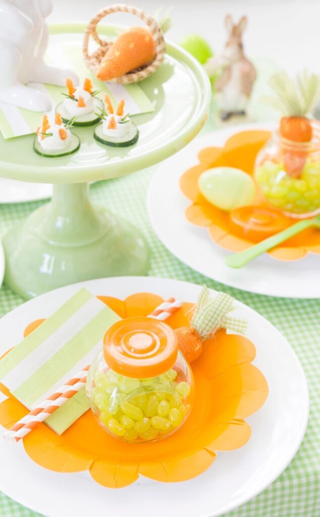 easter carrot themed party table