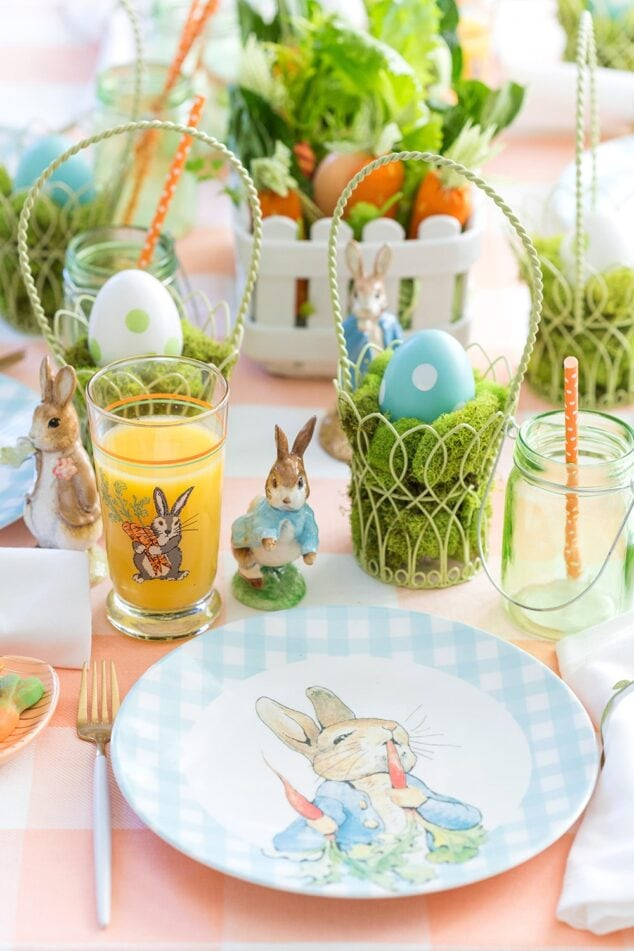 Peter Rabbit Easter Tablescape.