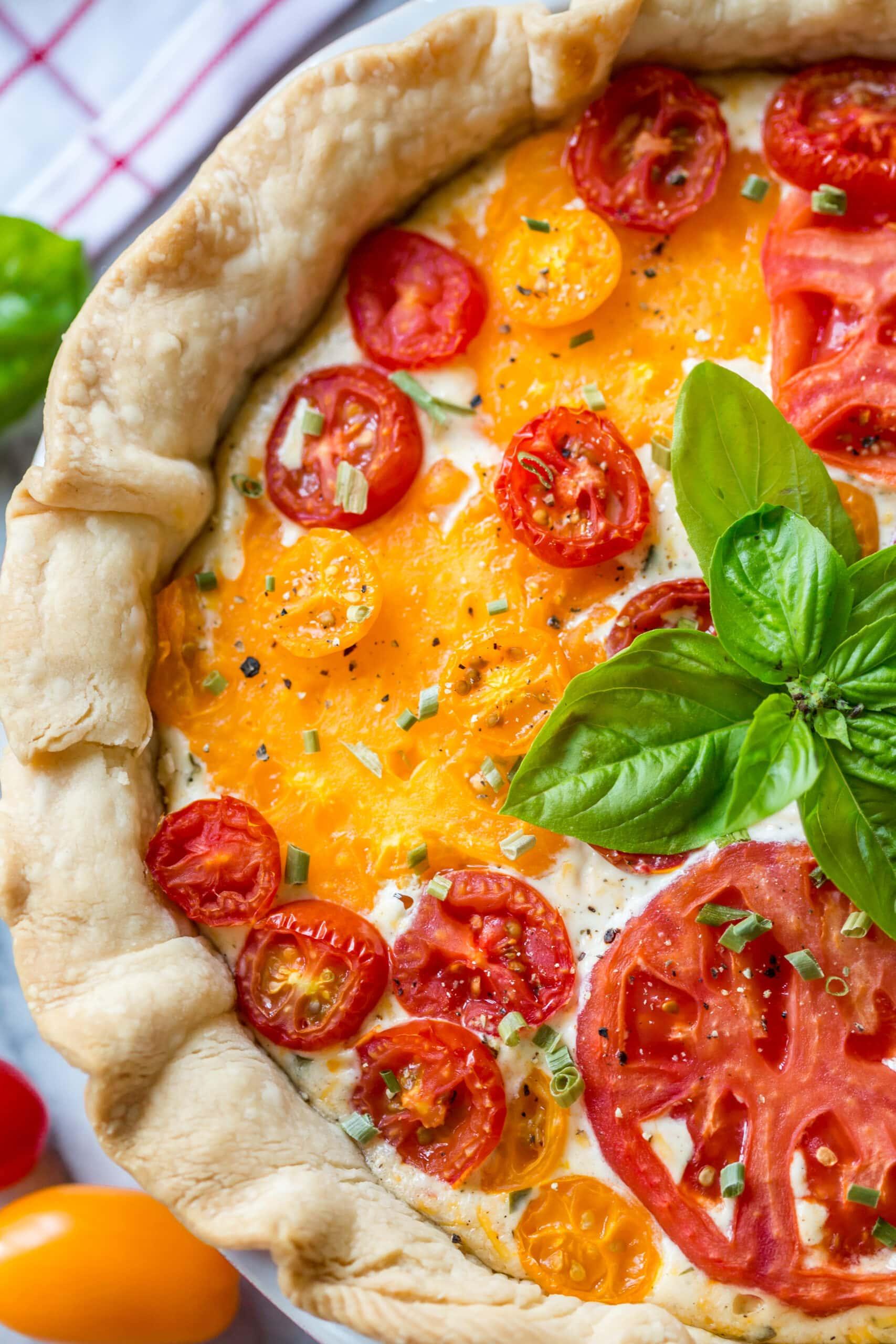 Heirloom tomato pie.
