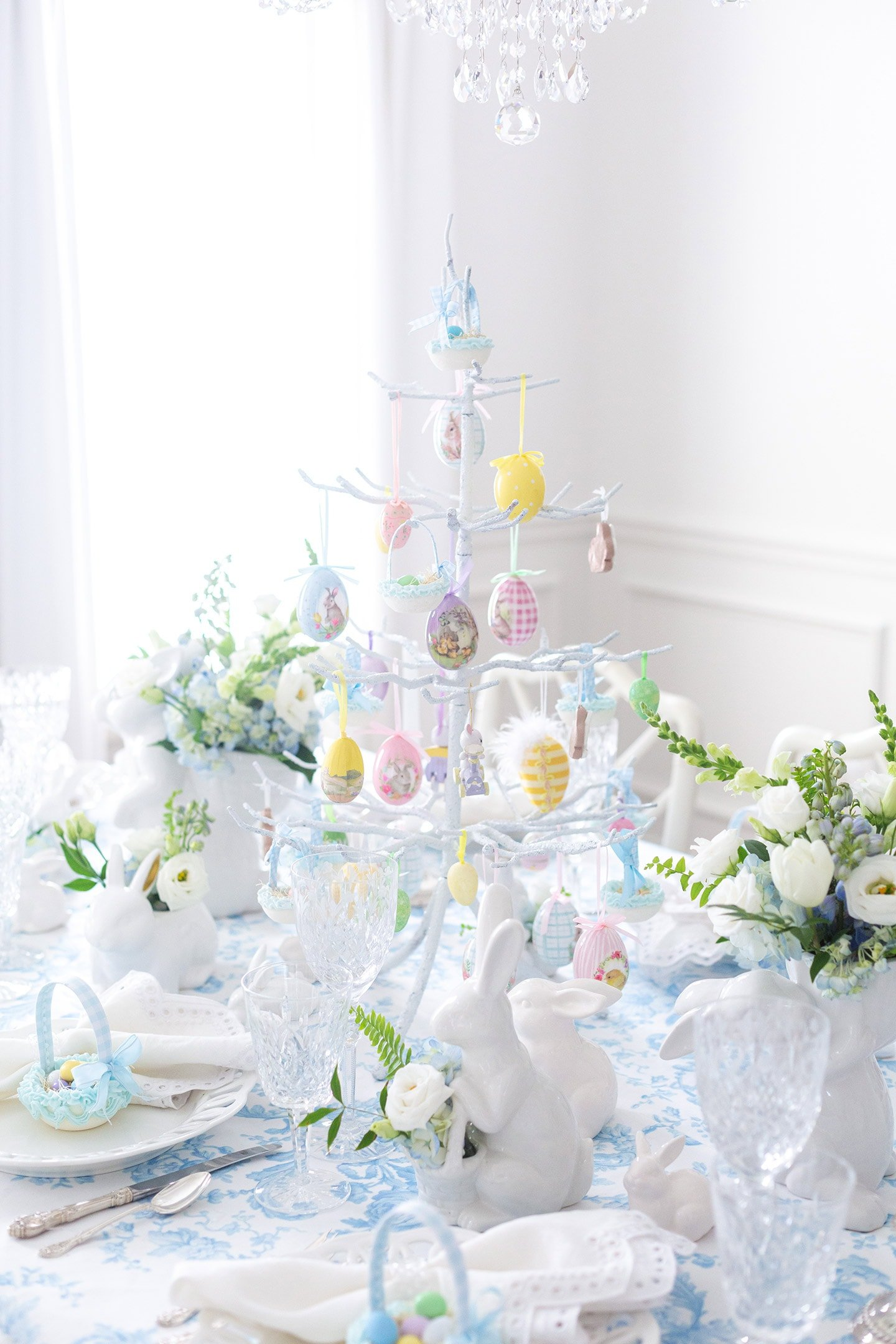 Easter Tree with Eggs for Centerpiece
