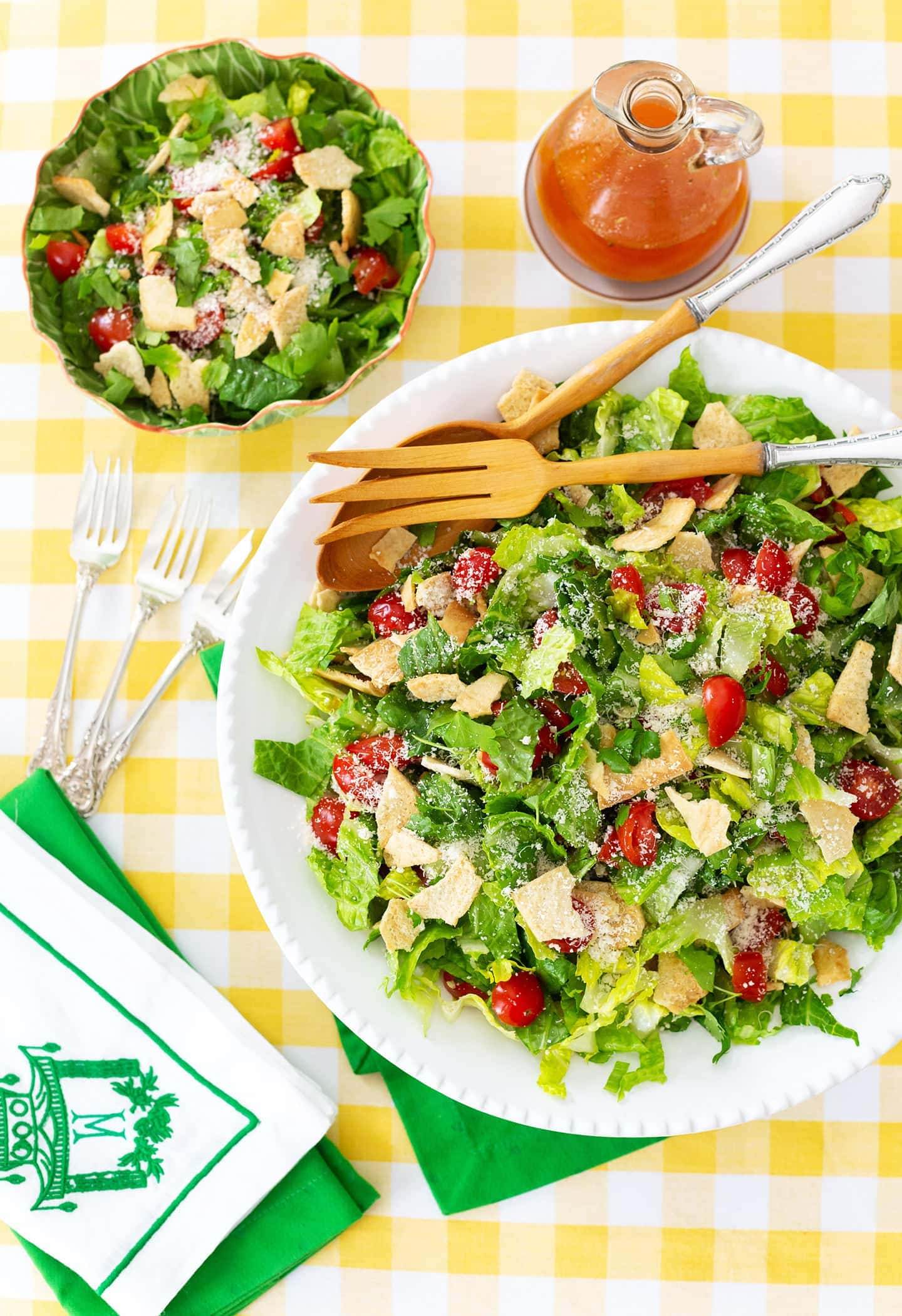 Famous green jacket salad from Green Jacket restaurant in Augusta, GA.