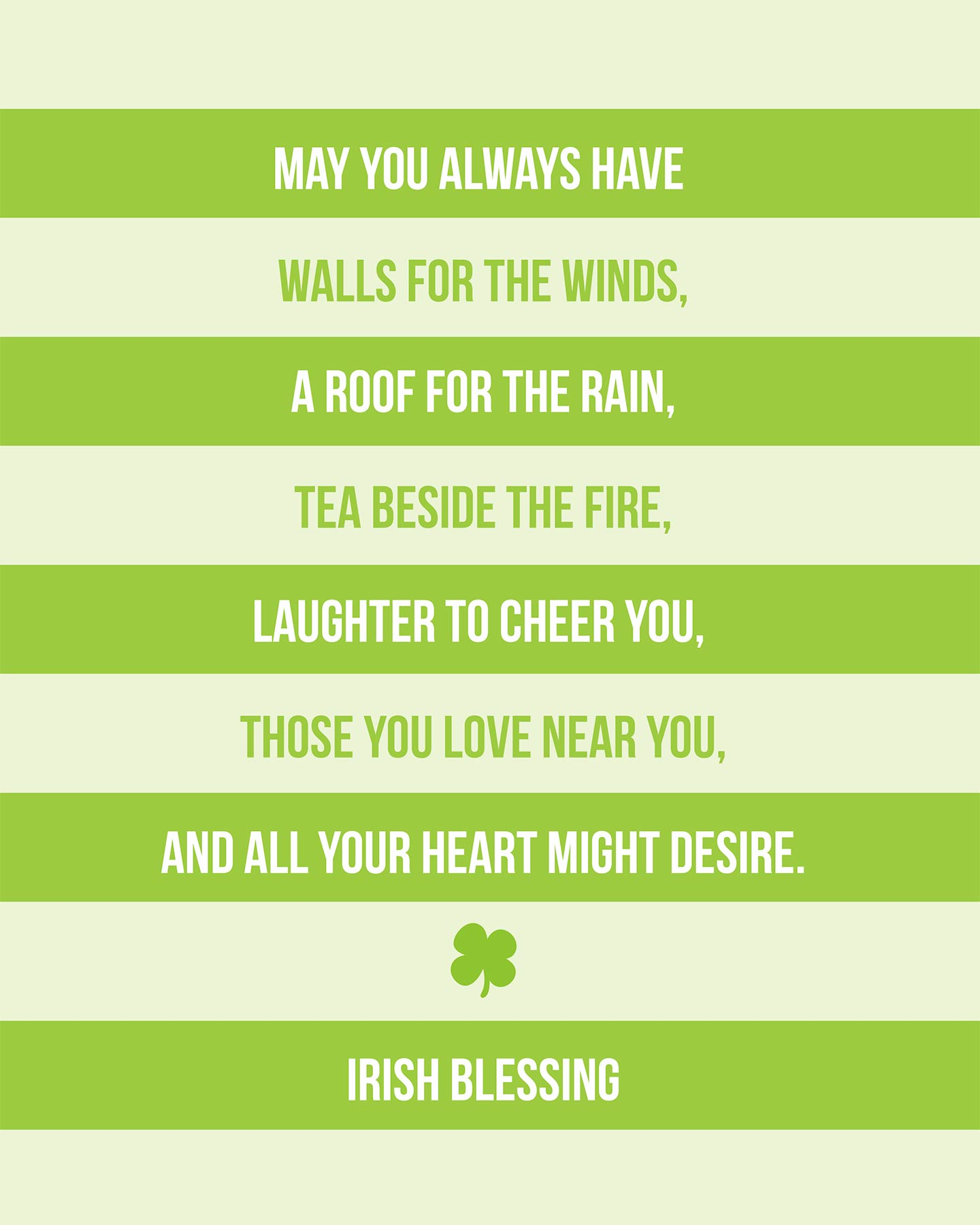 St. Patrick's Day Irish Blessing Printable.