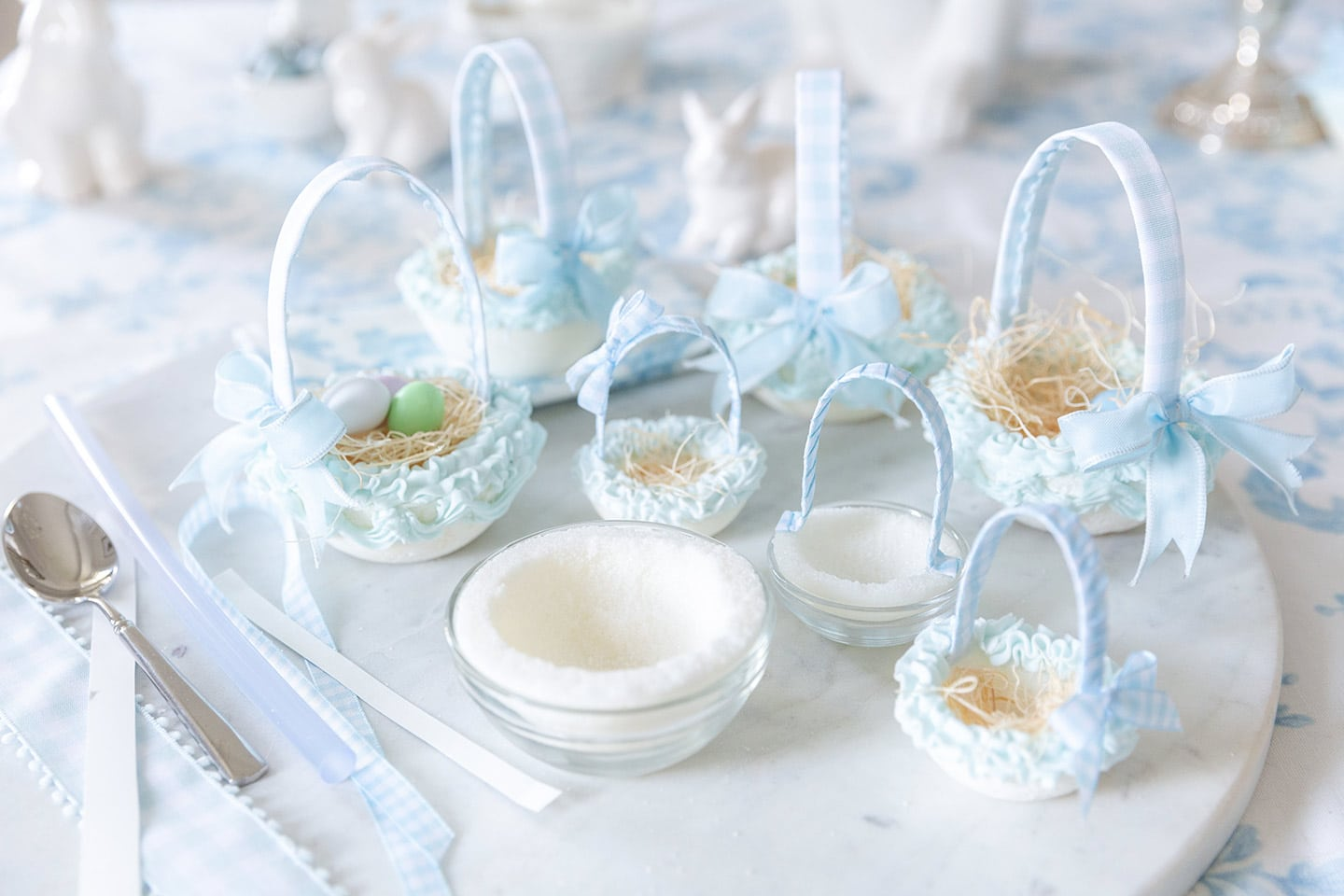 How to make Pressed Sugar Baskets for Easter