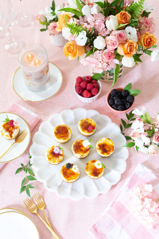 Mini Crème Brulee Cheesecakes