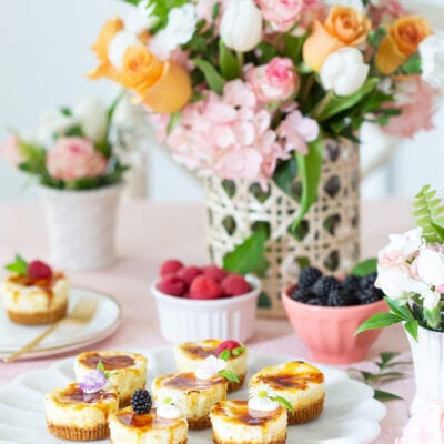 Serving Mini Cheesecakes for a Party