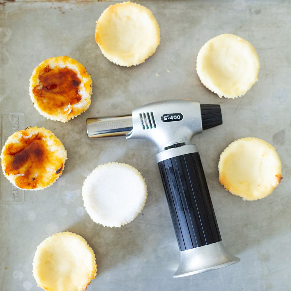 How to Creme Brulee Cheesecakes with Torch