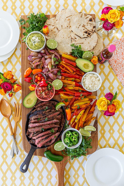 Steak Fajitas Board