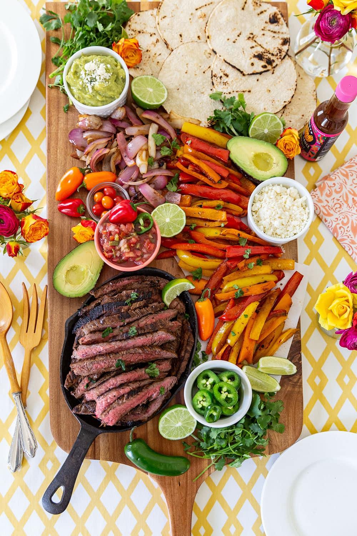 Steak Fajitas Grazing Board