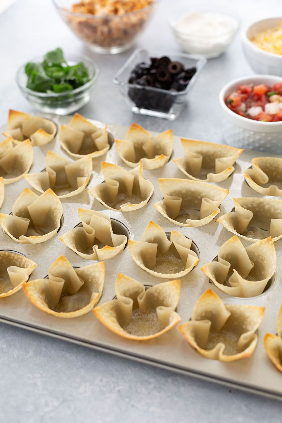 How to Make Wonton Cups in Muffin Tin