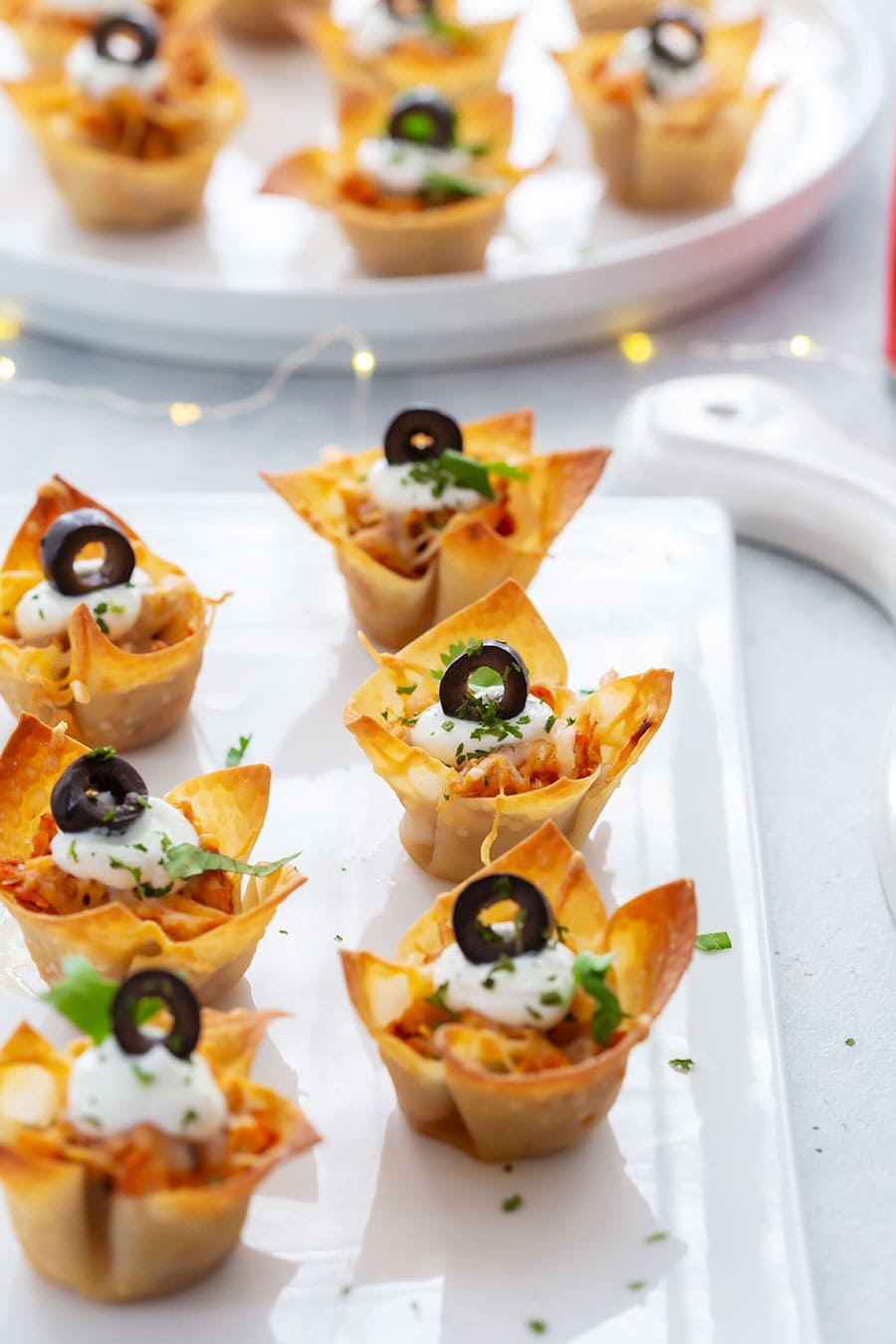 Nacho Cups on a Party Tray